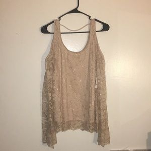 Gold Shimmery Top